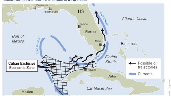 Offshore Safety Adds Urgency To Thaw In Us Cuba Relations Oil - Us-cuba-map