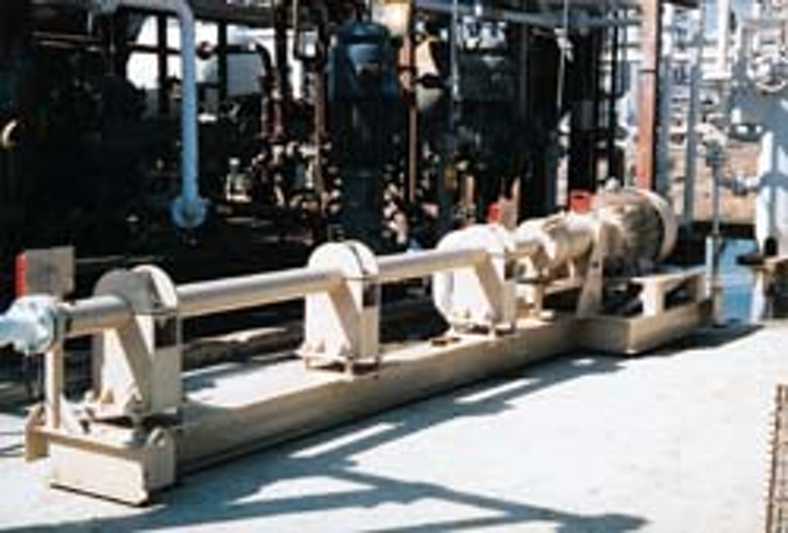 Horizontal pumping system installed at East Texas gas plant