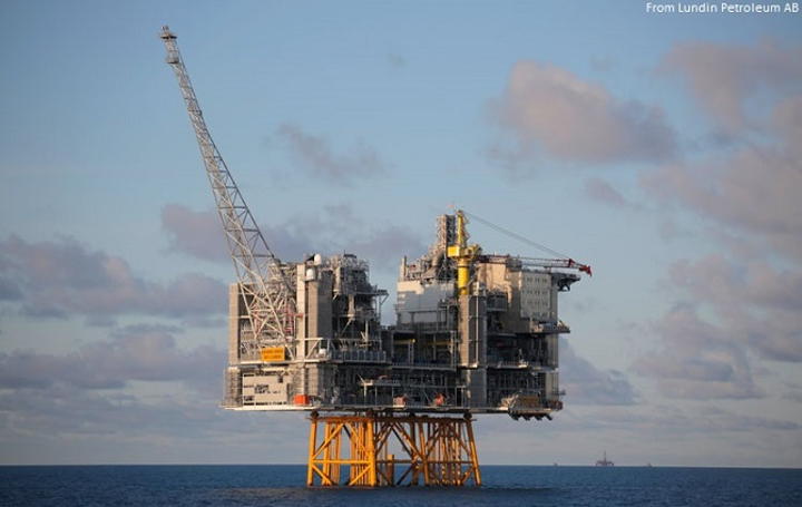 Oil platform Edvard Grieg offshore Norway