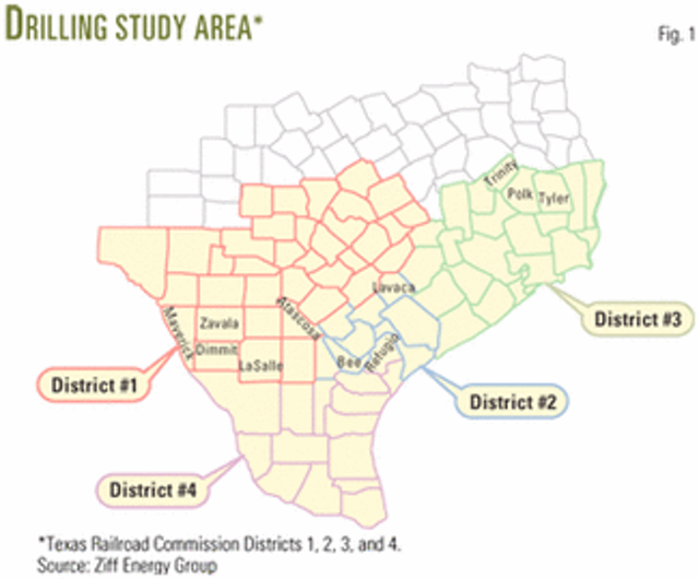 Study benchmarks 2001 drilling, completion costs for 400 South Texas