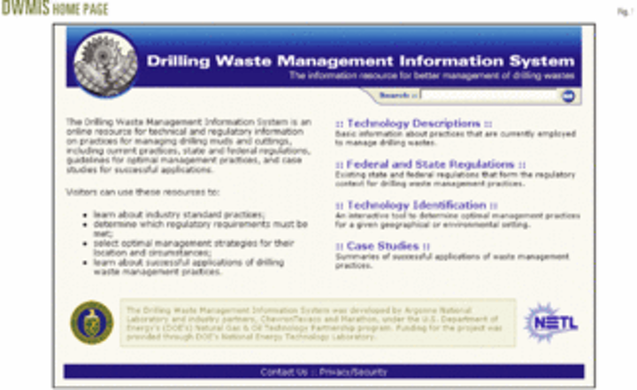 Government develops innovative, interactive drilling-waste MIS | Oil