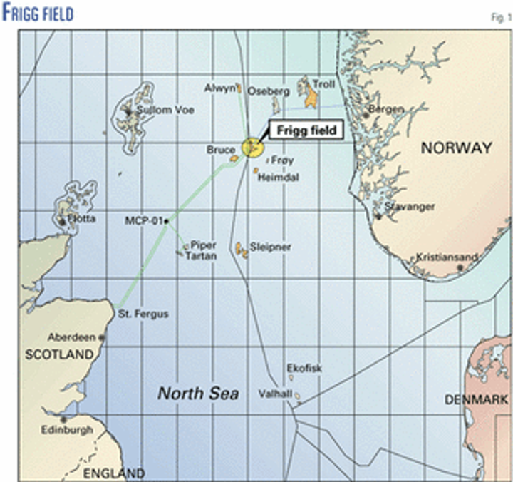 Map Of Uk Oil Fields.North Sea Giant Gas Field Approaches Final Months Oil Gas Journal