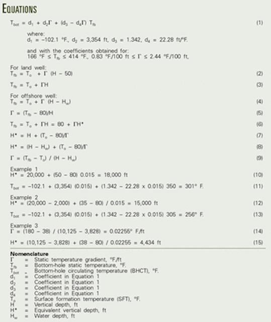 Method corrects API bottomhole circulating-temperature