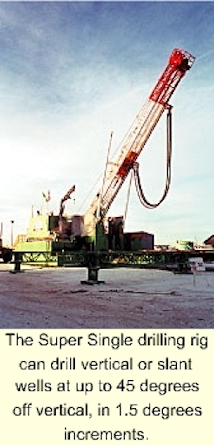 PLCs, hydraulics improve slant rig shallow-drilling operations   Oil