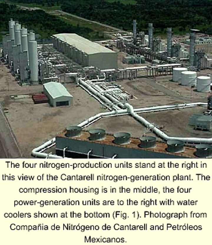 World's largest N2-generation plant starts up for Cantarell