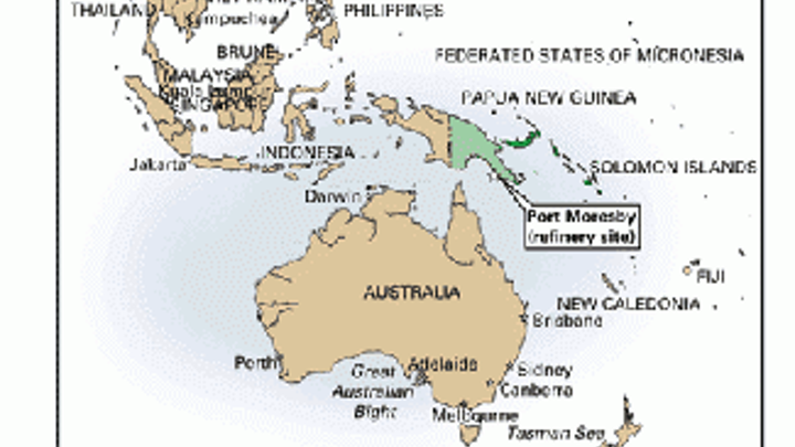 Interoil Builds First Refinery In Papua New Guinea Oil Gas Journal - Map-of-us-oil-refineries