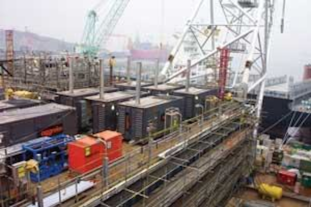 Rental units supplied power during Sakhalin-2 construction