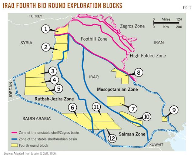 Hydrocarbon reservoir potential estimated for Iraq bid round blocks