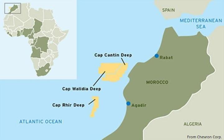 Qatar Petroleum joins Chevron in three Moroccan deepwater