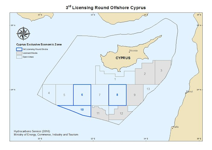 Content Dam Ogj Online Articles 2016 03 Cyprus Third Licensing Round Map