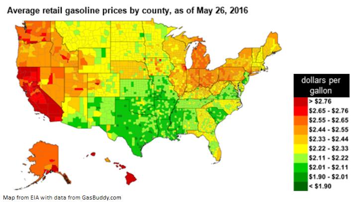 Content Dam Ogj Online Articles 2016 05 Eia Memorial Day Gasoline Prices
