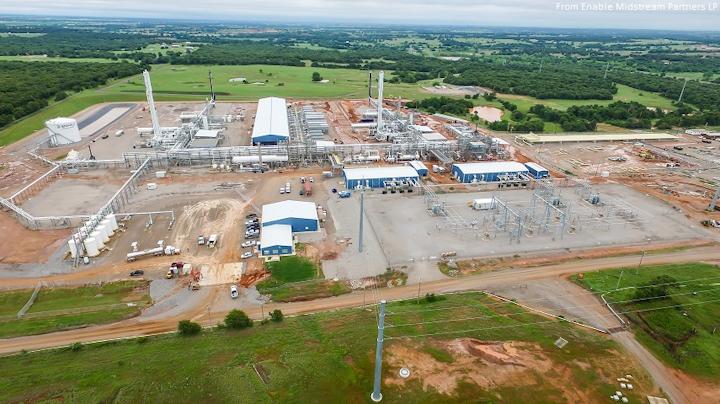 Enable Midstream Oklahoma gas plant