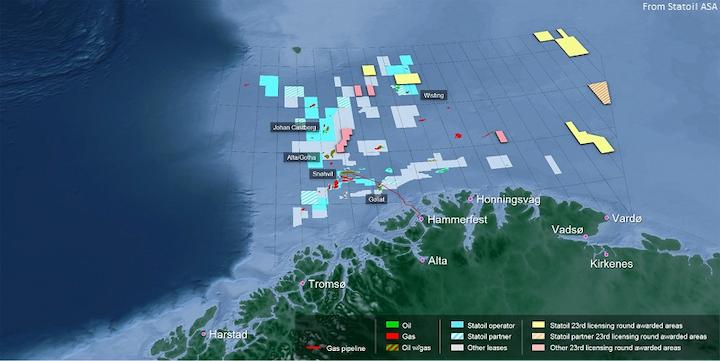 Statoil Barents map