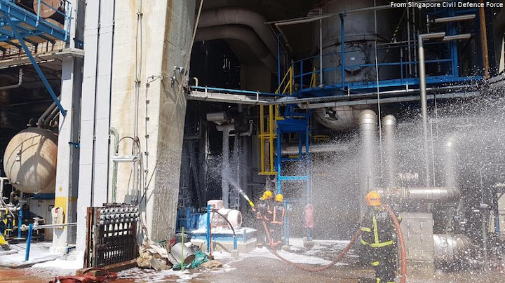 Fire hits Singapore Refining's Jurong Island refinery | Oil & Gas