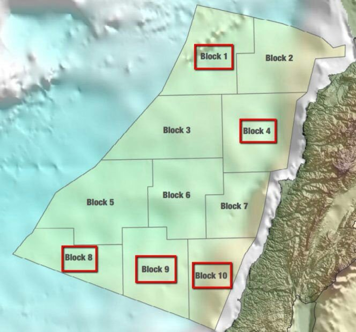 Content Dam Ogj Online Articles 2017 07 Lebanon Offshore Round Map