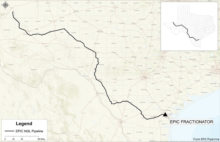Epic Pipeline to build 650-mile NGL line in Texas | Oil & Gas Journal