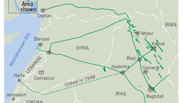 Oil Pipelines Played Role In Us Invasion Of Iraq Oil Gas Journal - Map-of-us-oil-pipelines