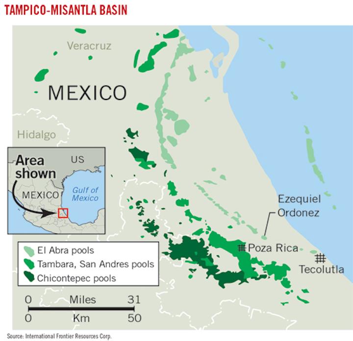 Mexico's Tampico-Misantla basin potential might rival US