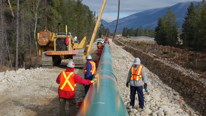 Construction on the Trans Mountain system.